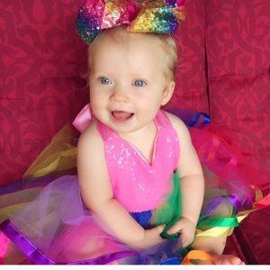 Other - Boutique Baby Unicorn Sequin Rainbow Tutu Dress